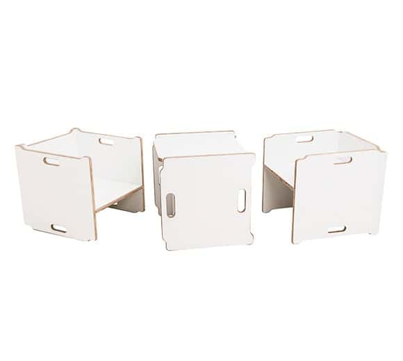 Chair Cube and Lotus Toys Box Linha Bloom