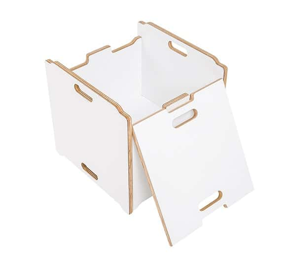 Silla Cubo y Caja para juguetes Lotus Linha Bloom