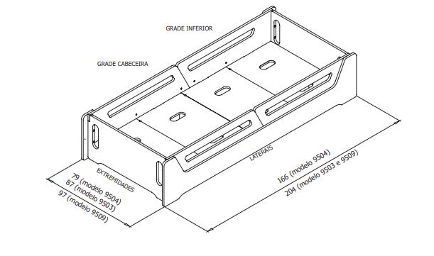 CAMA ANIS  - Dimensiones: Ref. 9504: (tamaño colchón 70cmx150cm) Ref. 9503: (tamaño colchón 78cmx188cm) Ref. 9509: (tamaño colchón 88cmx188cm)  Ref. 9538: (tamaño colchón 78cmx162cm)